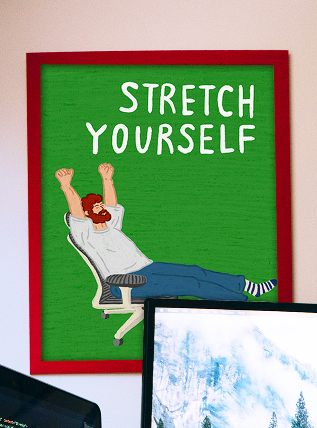stretch yourself A3 포스터