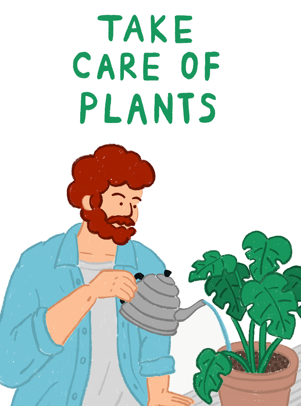 take care of plants 엽서