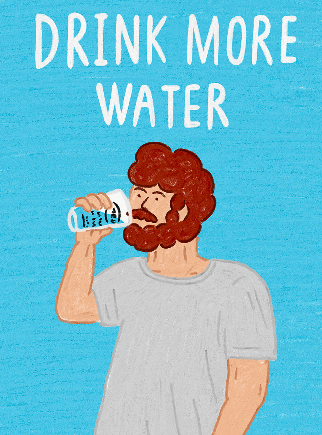 drink more water 엽서